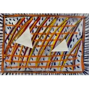 Artur Barrio<br>Série Africana<br>Desenho sobre papel - 1989 - 30 x 40