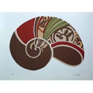 Anna Letycia - Série Caracóis - Gravura 61/70 - assinatura canto inferior direito - medidas: 50 x 70 cm