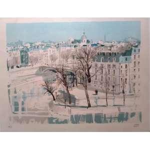 PIERRE PAGES - Paris - Litogravura 43/175 - Medidas da mancha 56 x 43 cm - Assinatura canto inferior direito