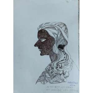 Maurino Araujo - Figura - Desenho sobre papel - 2016 - Medidas 41 x 30 cm