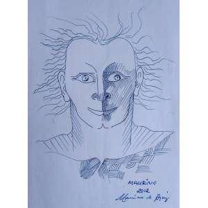 Maurino Araujo - Desenho sobre papel - 2012 - Medidas 30 x 21 cm