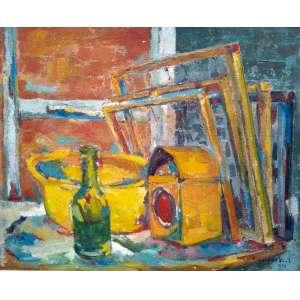 PAUL GARFUNKEL - óleo sobre tela colada em cartão - Medidas 40 x 50 cm