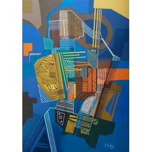 Roberto Mattar - Técnica Mista - Medidas 67 x 50 cm - Assinado