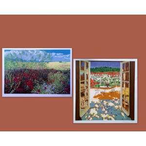 Raquel Tarabolrelli - Duas Serigrafias coloridas impressas sobre papel especial - Medidas 50 x 50 cm e 43 x 63 cm - Assinadas
