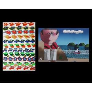 Inos Corradin e Rogério Dias - Lote com duas Serigrafias Medindo a primeira 50 x 70 cm e a segunda 45 x 30 cm - Assinadas