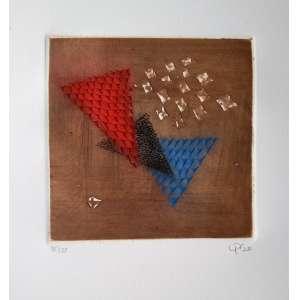 Arthur Luiz Piza - Gravura em metal (Goiva) - Edição 35/99 - Medida Interna 16 x 16 cm - Medida externa 45 x 31 cm - Assinada no cid