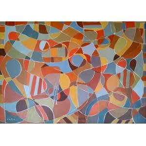 Cláudio Faciolli - Acrílica s/Tela - Assinado e localizado - Medidas 99 x 130 cm