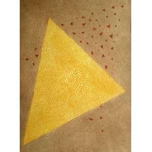 ARTHUR LUIZ PIZA - Astrolabe Jaune Rouge - Gravura em metal (goiva) - Medidas 75,5 x 56,8 cm - Assinado no canto inferior direito - Edição 25/99