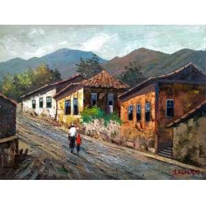 J. Alberti - Casario - òleo sobre tela - Medidas 50 x 70 cm - Assinado no cid