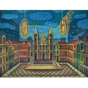 FERNANDO LOPES - Óleo sobre tela - assinado e datado de 1978 -Medidas 50 cm x 65 cm