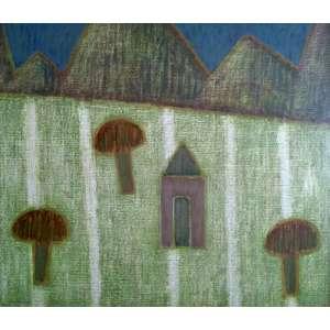 Mario Rubinski - Acrílica sobre madeira industrializada - Medidas 50 x 60 cm - Assinado