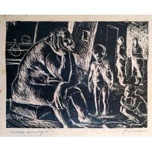 Guido Viaro - Nosso amigo - Água forte sobre zinco, impressão planográfica - Medidas 23,3 x 17,5 cm - Assinado no cid
