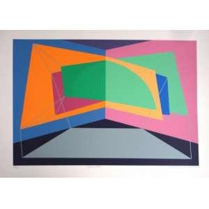 LYDIA OKUMURA - Transition - Serigrafia original impressa em 07 cores - 17/90 - Medidas 50 x 70 cm - 1984 Impressor Omar Guedes