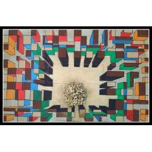 Bernardo Mora - Técnica mista sobre madeira - Medidas 40 x 60 cm - assinatura no verso