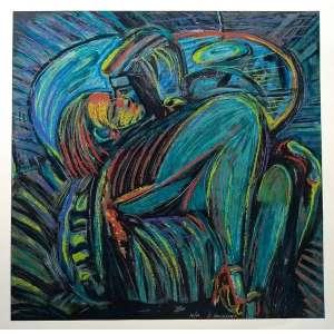 Rubens Gerchman - O Beijo - Serigrafia - Série 14/60 - Medidas 70 x 70 cm - assinado
