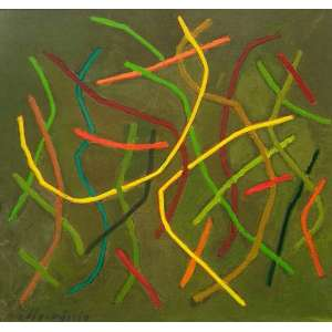 Loio Pérsio - Estudo - Guache sobre cartão - Medidas 18 x 18 cm - Assinado no cie