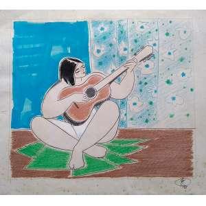 Floriano Teixeira - Técnica mista - Medidas 44 x 50 cm - Assinado e datado de 1988 - Ex coleção Wylma Sedys