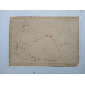 Floriano Teixeira - Desenho sobre papel - Medidas 13 x 18 cm - sem assinatura - Ex coleção Wylma Sedys