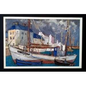 Frank Schaeffer - Porto - Guache sobre cartão - Medidas 34 x 50 cm - Assinado no cie - necessita restauro