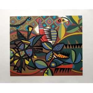 Genaro de Carvalho - Gravura original, sem assinatura - Medidas 38 x 46 cm