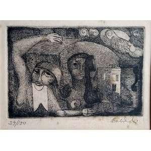 Babinski - Gravura em metal - Medidas 13 x 17 cm