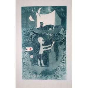 Anamelia - Ouro Preto - Gravura em metal - 5/15 - Medidas 47 x 28 cm