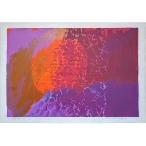 Fayga Ostrower - Litogravura - 68/110 - Medidas 31 x 46 cm - assinada e datada de 1974