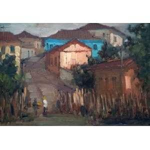 Paulo Marinho - Sem assinatura - Pintura sobre Eucatex - Medidas 19 x 27 cm