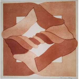 Rossini Perez - P.A - Gravura em metal - Acie - Medidas 44 x 44 cm