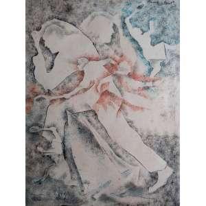 Mista sobre papel sem assinatura - Medidas 26 x 20 cm