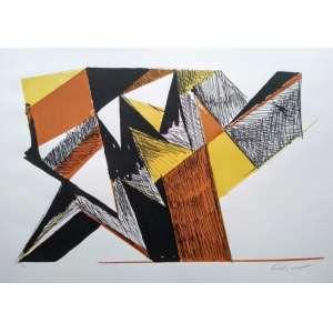 Emanoel Araujo - Litogravura - Assinatura Canto Inferior direito - Medidas 70 x 90 cm