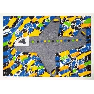 Angelo de Aquino - Avião - Serigrafia em cores sobre papel - Medidas 69 x 98 cm - acid