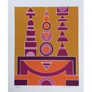 Rubem Valentim - Emblemas - Serigrafia 152/170 - Assinado no cid - Medidas 35 x 30 cm