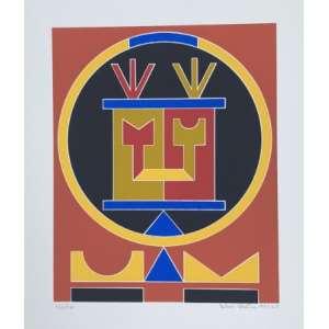 Rubem Valentim - Emblemas - Serigrafia 132/170 - Assinado no cid - Medidas 35 x 30 cm<br />