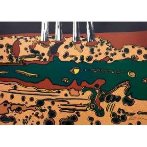 ANTONIO HENRIQUE DO AMARAL - litografia em cores - Medidas 63 x 90 cm - Edição 61/99 - Assinado no canto inferior direito