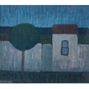 Mario Rubinski - Acrílica sobre madeira industrializada - Medidas 28 x 32 cm - Assinado canto inferior esquerdo