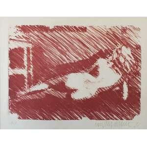 NEWTON MESQUITA - Nú - serigrafia a cores Medidas 32 x 37 cm - Assinado e datado (1932)
