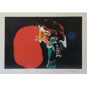 Manabu Mabe - serigrafia a cores - Medidas 33 x 46 cm - Assinado e datado (1993)