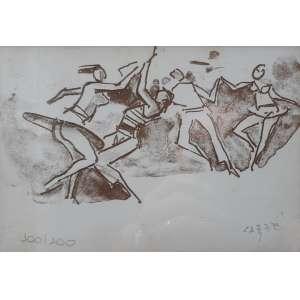 Carybé - Serigrafia - P.A - Medidas 13 x 13 cm - Ex coleção Wylma Sedys