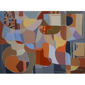 Claudio Faccioli - Tinta Acrílica sobre tela - Medidas 103 x 136 cm - Assinado, datado e localizado, Rio de Janeiro 2001