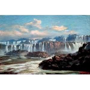 ADOLF METHFESSEL (1836 - 1909) - Yguazú - óleo sobre cartão - Medidas 20,5 x 30,5 cm - assinatura canto inferior direito