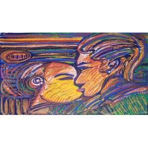 RUBENS GERCHMAN - O beijo - gravura assinada pelo artista cid - Medidas 66 x 95