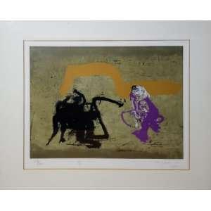 Manabu Mabe - serigrafia assinada e datada de 1990 - Medidas 45 X 53 cm