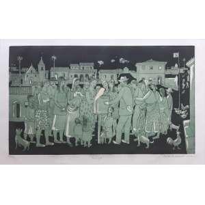 Fulvio Pennacchi - Realejo - Rara gravura em metal de 1975 - Edição 64/100 - Medidas 30 x 52 cm - Assinada no cid