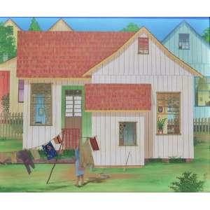 Jefferson Cesar - Casinha de Polaco - acrílica e colagem sobre tela - Medidas 48 x 58 cm - Assinada e datadade 1980