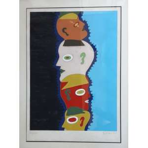 Siron Franco - Serigrafia 51/100 - Medidas 70 x 50 cm - Assinado e datado de 1987 - pequeno defeito