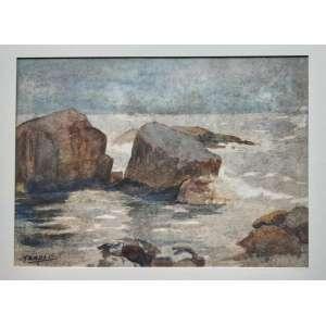 Guilherme Matter - Marinha - Aquarela sobre cartão - Medidas 24 x 33 cm - assinado no cie