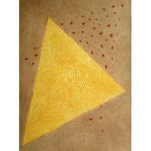ARTHUR LUIZ PIZA - Astrolabe Jaune Rouge - Gravura em metal (goiva) - Medidas 75,5 x 56,8 cm - Assinado no canto inferior direito - Edição 12/99