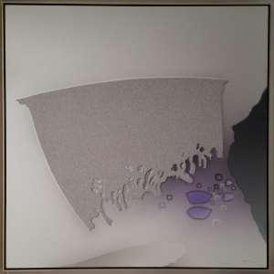 Roberto Kenji Fukuda - Técnica mista sobre tela - Medidas 120 x 120 cm - Assinado no cid