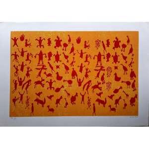 SIRON FRANCO - serigrafia PA 4/5 - Medidas 75 x 105 cm - assinado e datado de 2012 - Perfeito estado